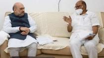Ncp Cheif Sharad Pawar Meet Minister Amit Shah In Delhi