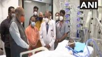 Kalyan Singh Health Update Union Home Minister Amit Shah Visits Sgpgi Hospital Meet Kalyan Singh