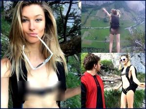 VIDEO: न्यूड होकर 900 फीट की ऊंचाई से कूदी यह लड़की, जानिए क्यों किया ऐसा