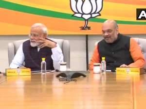दिल्ली में भाजपा की बैठक, पहले चरण की सीटों पर चर्चा