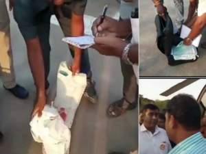 हेलीपैड पर बीएस येदुरप्पा के सामनों की तलाशी