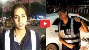 VIDEO: अलग स्टाइल में ट्रैफिक के प्रति जागरूक कर रही छात्रा