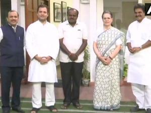 सोनिया गांधी और राहुल गांधी से मिले कुमारस्वामी, कैबिनेट पर चर्चा कल