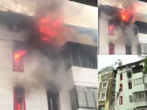गिरगांव के कोठारी हाउस बिल्डिंग में लगी आग, 1 व्यक्ति की मौत