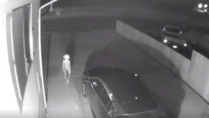घर के बाहर CCTV में दिखा अजीब प्राणी, वीडियो वायरल