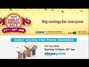21 जनवरी से शुरू हो रहा है Amazon Great Indian Sale