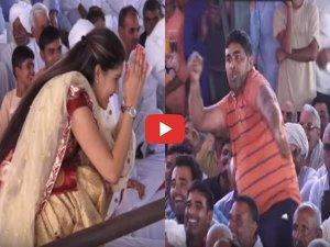 VIDEO: सपना को भीड़ में से शख्स ने दी चुनौती, डांस गजब का