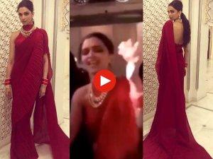 VIDEO: ईशा अंबानी के संगीत में दीपिका ने किया देसी डांस