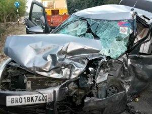 सड़क हादसे में IB हेड कॉन्स्टेबल व उनके बेटे की मौत, 9 घायल