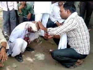 राहुल गांधी PM नहीं बन पाए तो बीच सड़क पर करवाया मुंडन