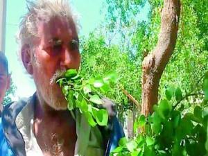 VIDEO: 25 सालों से पत्ते और टहनियां खाकर जिंदगी गुजार रहा है ये पाकिस्तानी शख्स