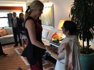 सुषमा स्वराज से मिलीं डोनाल्ड ट्रंप की बेटी इवांका ट्रंप, फिर जो बोलीं, वो जानने लायक