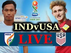 Live फीफा अंडर-17 फुटबॉल विश्वकप: पहले मैच में अमेरिका से 3-0 से हारा भारत