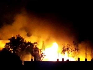 गोदाम चलाने के नाम पर भाजपा नेता मांगते थे रंगदारी, ना देने पर लगाई आग