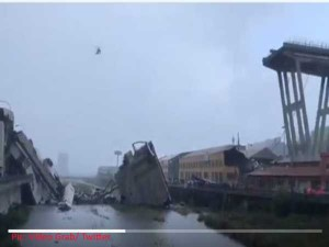 VIDEO: इटली में ब्रिज गिरने से 11 लोगों की मौत, कई घायल