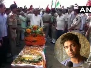 शहीद की विदाई में उमड़ा सैलाब, बेटे ने कहा- शहादत पर गर्व है, पाकिस्तान पर कार्रवाई हो