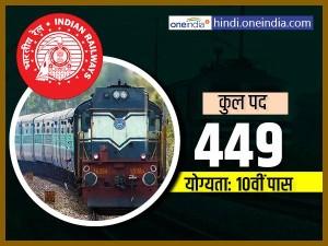 10वीं पास हैं तो रेलवे में करें आवेदन, अप्रेंटिस के 446 पदों पर निकली है भर्तियां