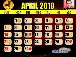 Astro Calendar: अप्रैल 2019 का ज्योतिष कैलेंडर