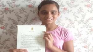 11 साल की आरुषि ने सफाई को लेकर लिखी मोदी को चिट्ठी, पीएम ने भेजा ये जवाब