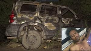 भाजपा उम्मीदवार की गाड़ी में रखे पटाखों में लगी आग, अंदर बैठे कई कार्यकर्ता झुलसे
