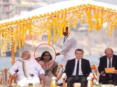 वाराणसी में पीएम मोदी के साथ दिखने वाली महिला आखिर कौन हैं?