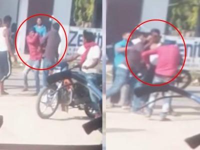 दलित को सड़क पर दौड़ा-दौड़ा कर पीटा, VIDEO VIRAL
