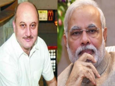 #HumFitTohIndiaFit: अनुपम खेर ने PM मोदी को बताया Rockstar