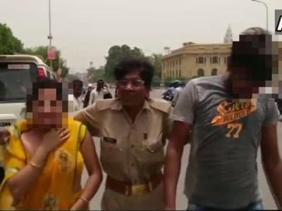 लखनऊ: विधानसभा के सामने रेप पीड़िता ने की आत्मदाह की कोशिश