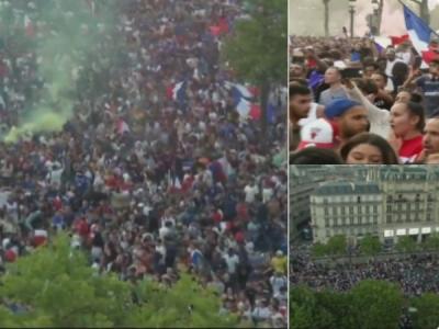 VIDEO: फ्रांस के फीफा वर्ल्ड कप जीतने पर पेरिस में जश्न