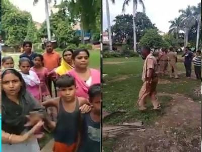 अंबेडकर पार्क में मंदिर बनवाने गए पुलिसवालों से भिड़ गए दलित