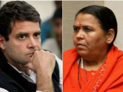 राहुल गांधी का दिमागी संतुलन ठीक नहीं: उमा भारती