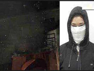 नए फ्लैट पर हक को लेकर पति से भिड़ी बीवी ने लगाई आग