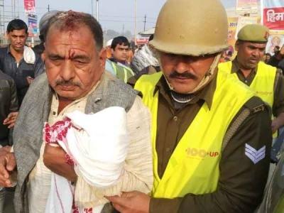 कुंभ मेला: नागा साधुओं ने चिमटे से किया श्रद्धालु पर हमला