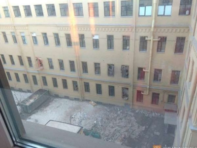 रुस के सेंट पीटर्सबर्ग में यूनिवर्सिटी की इमारत ढही