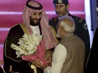 भारत पहुंचे सउदी अरब के क्राउन प्रिंस मोहम्मद बिन सलमान