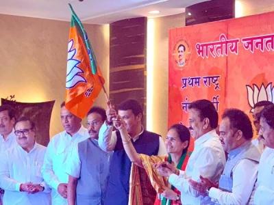 NCP- कांग्रेस को तगड़ा झटका, बीजेपी में शामिल हुए दो नेता