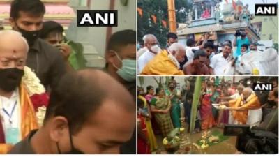 Pongal 2021: चेन्नई पहुंचे RSS प्रमुख मोहन भागवत ने की कादुम्बडी मंदिर में पूजा