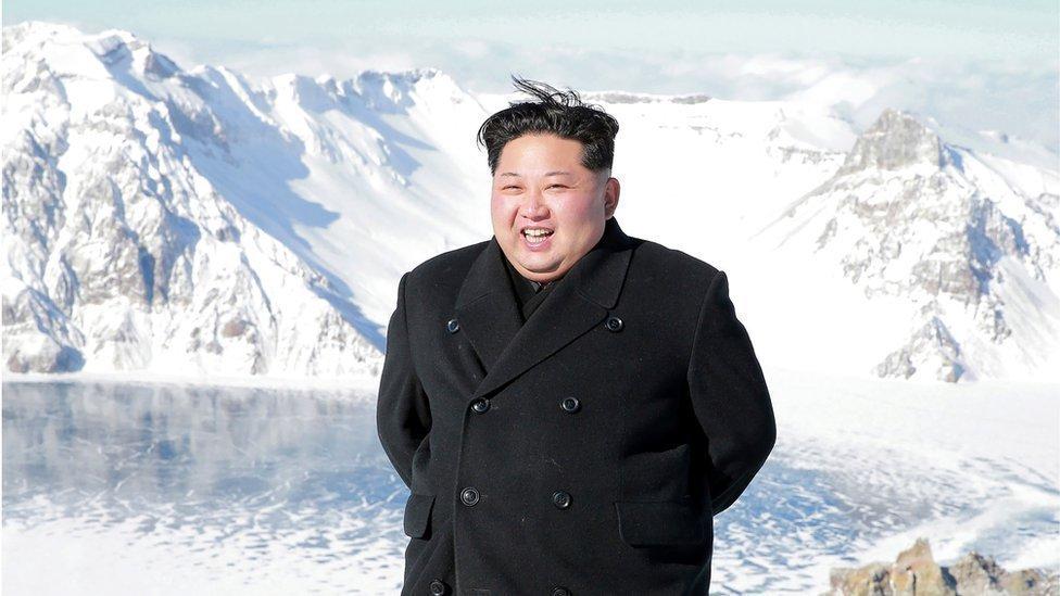 Image result for उत्तर कोरिया का पवित्र ज्वालामुखी