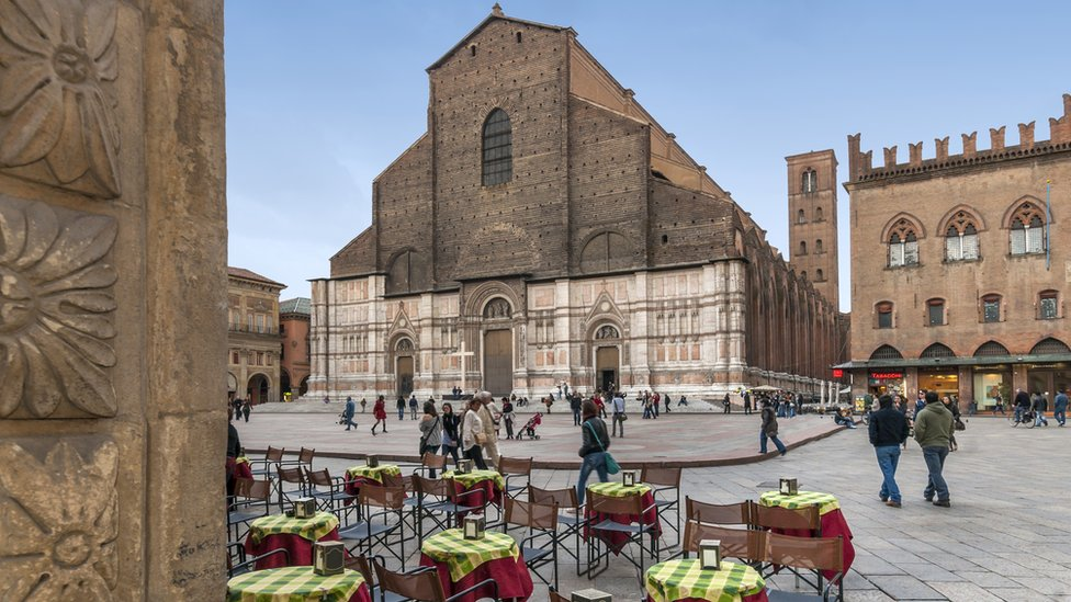 The Basilica of San Petronio is the main church of Bologna